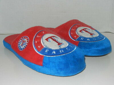 £5.80 • Buy Texas Rangers Slippers Team Logo By Forever Collectibles Men's Size 11-12
