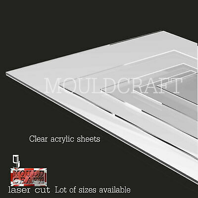 Mouldcraft Clear Acrylic Perspex Sheet Custom Cut To Large Sizes Panels Plastic  • 8£