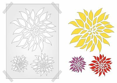 £4.80 • Buy 3 Blooms Floral Stencil CRAFTS PLASTIC Template 190mic Mylar WALL ART