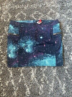 £5 • Buy H&M Divided Size EUR 38 10/12 Mini Skirt Galaxy Print New With Tags