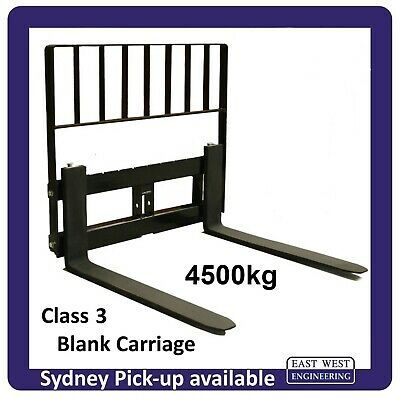 AU1254 • Buy CARRIAGE CLASS 3  4500kg With 1200mm PALLET FORKS + LOADGUARD For Tractor Loader