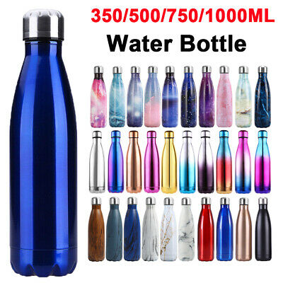 AU23.89 • Buy 1L Stainless Steel Insulated Thermos Water Bottle Travel Drink Mug Flask Thermal