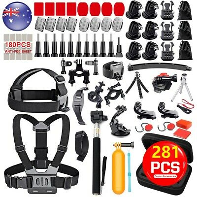 AU39.99 • Buy 281x Gopro Accessories Pack Kit W/Case For Hero 8 7 6 SJCAM AKASO APEMAN Camera