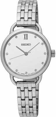 $ CDN166.55 • Buy Seiko Womens Watch With Silver Stainless Steel Strap SUR697P1