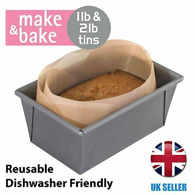 Loaf Tin Liner For 1lb And 2lb Tins Reusable Alternative To Paper Make And Bake • 3.29£