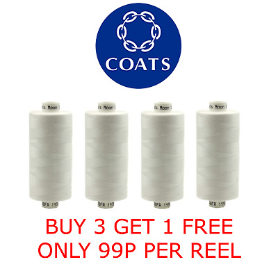 £1.65 • Buy Coats Moon Polyester Sewing Thread 1000 Yard Reels Hand/Machine All Colour's