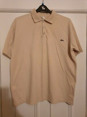 Lacoste Cream Colour Polo Shirt XXL  • 5£