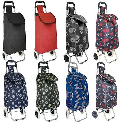 Large Lightweight Wheeled Shopping Trolley Push Cart Luggage Bag With Wheels  • 11.99£