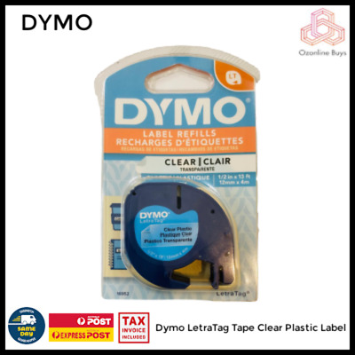 AU15 • Buy Dymo Genuine LetraTag Tape Refill Clear Plastic *AU STOCK *