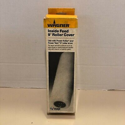 Wagner 1/2  Nap X 9 In. Inside Feed Roller Cover Use W Power Roller NEW In Box • 11.57£