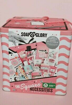 Soap And Glory The Square Necessities Gift Set Tin Brand New RRP £65 • 49.99£