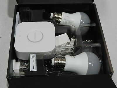 AU120.69 • Buy Philips Hue White Ambiance Starter Kit A60 | 2x Bulbs | Bridge | Dimmer