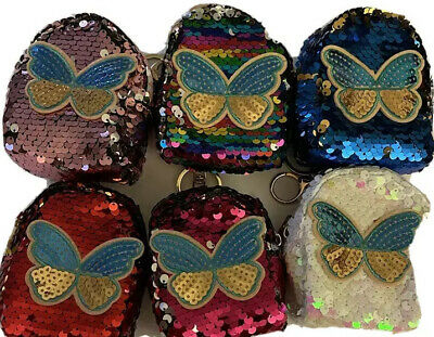 $5.99 • Buy Rainbow Coin Purse Keychain Wallet Butterfly And Bedazzles( Small)