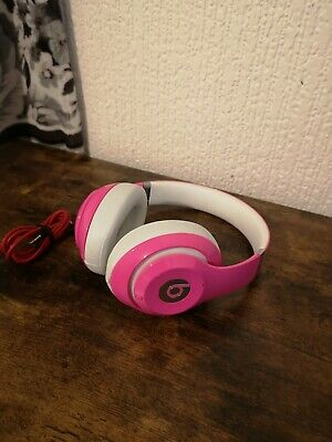 Beats By Dr Dre Studio 2 Wired Pink Headphones Headband • 55£