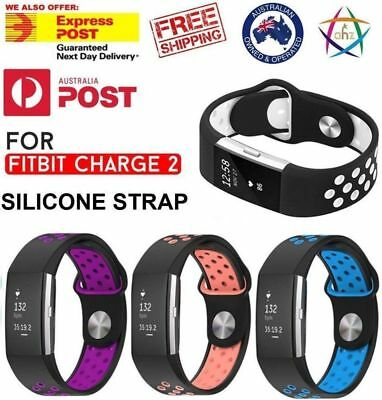 AU7.99 • Buy Fitbit Charge 2 Sports Watch Band Strap Silicone Bracelet Smart Wristbands AUS
