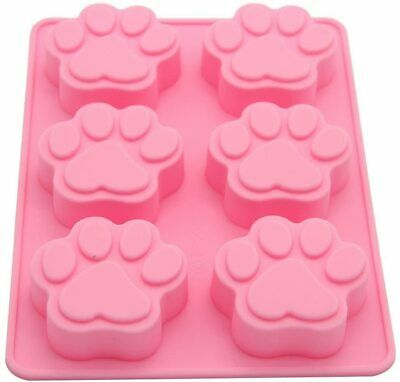 £2.99 • Buy 6 Paw Silicone Base Chocolate Cookie Mould Baking Ice Cube Jelly Cake Cat Dog