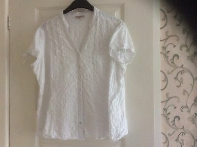 Matalan White Ladies Top Size 18 • 0.99£