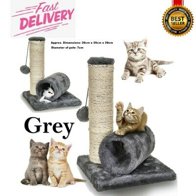 Sisal Scratch Bed Kitten Play Toy Fun Post With Pet Cat Tunnel Pet Activity UK • 7.95£