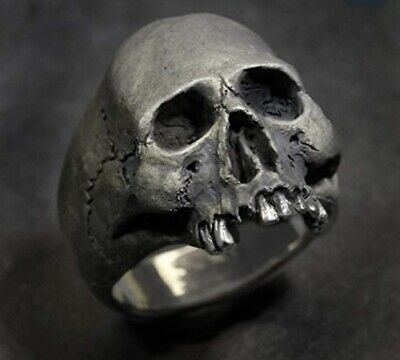 Stainless Steel Skull Ring Fast P&P Biker Emo Gothic Indie Fashion New UK • 3.30£