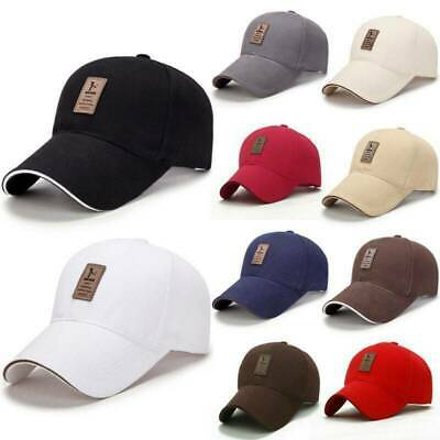 Mens Womens Polo Baseball Cap Golf Caps Strapback Peaked Sun Hat Adjustable • 7.21£