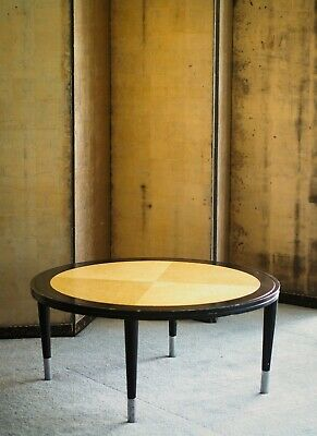 AU225 • Buy Beautiful 1980s Burl And Lacquer Coffee Table Art Deco Style Design Post Modern