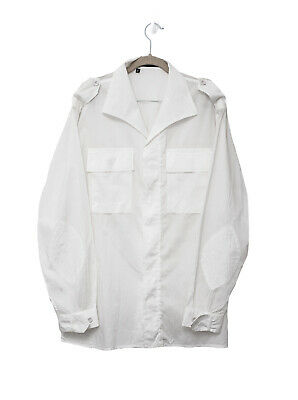 AU99 • Buy Gucci By Tom Ford 2003 White Lightweight Cotton Camp Collar Mens Summer Shirt 39