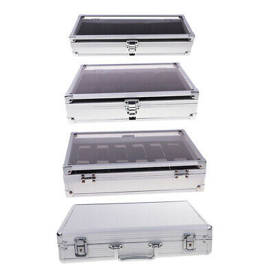 $ CDN26.46 • Buy Glass Top Aluminium Watch Storage Case Organiser Display Box Pillows Holder