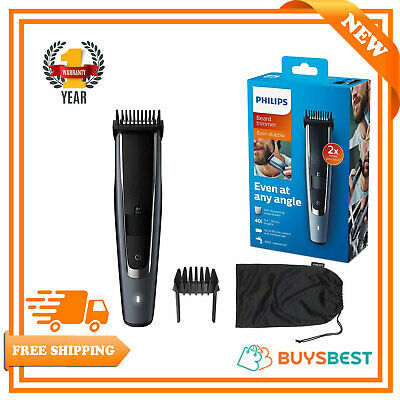 AU100.33 • Buy Philips Series 5000 Beard And Stubble Trimmer With Self-Sharpening Metal Blades