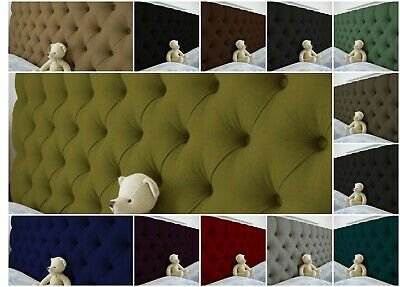 Top Quality Colchester Headboard In Turin Fabric 2FT 3FT 4FT 4FT6 5FT 6FT 30  UK • 99.99£