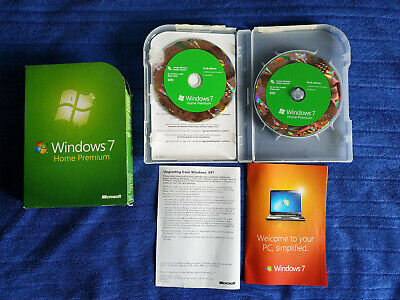 Windows 7 Home Premium DVD 32/64 Bit Original Retail,GC! • 59.99£