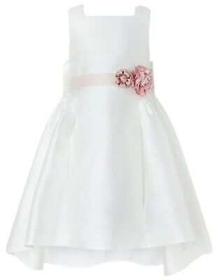Monsoon Cynthia High Low Ivory Kids Dress Age 7 Years New With Tags RRP £60 • 50£