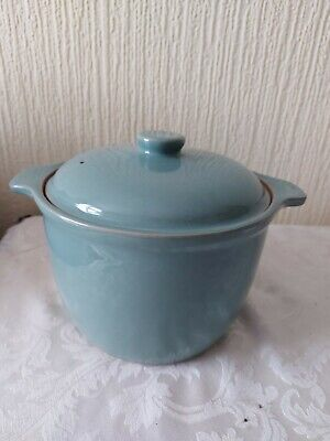 VINTAGE Denby  Pottery MANOR GREEN Large Casserole Dish & Lid - 5 3/4 Pints • 19.99£