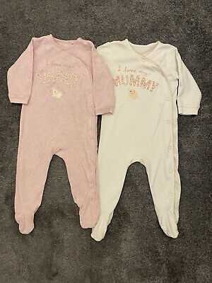 NEXT I Love Mummy And Daddy Baby Grow X 2 6-9 Months Baby Girl Next  • 1.99£