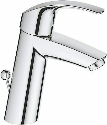Grohe Eurosmart Basin Mono Mixer Tap Medium Spout Pop-up Waste Flexible Hoses • 69£