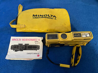 Vintage Minolta Weathermatic A 110 Film Underwater Camera With Strap Not Tested • 17.91£