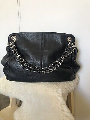 AU50 • Buy Large Black Leather Oroton Handbag