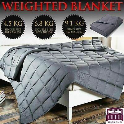 AU59.90 • Buy Premium Cooling Weighted Blanket Adult 5/7/9/11KG Heavy Gravity Deep Sleep Relax