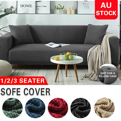 AU25.64 • Buy Super Stretch Sofa Cover Couch Lounge Protector Slipcovers 1/2/3/4 Seater Covers
