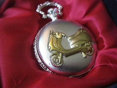 Pocket Watch New In Display Box ~ Gold Lambretta With Silver Background (f)  • 2.99£