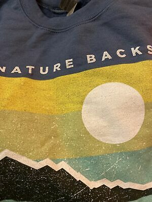 Nature Backs Clothing Company Sweatshirt Pullover Unisex Sky Blue Large NWOT • 19.15£