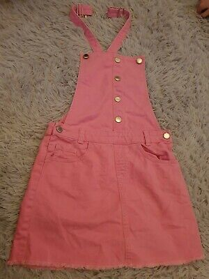 Girls Age 10-11 Dungaree Dress • 2.16£