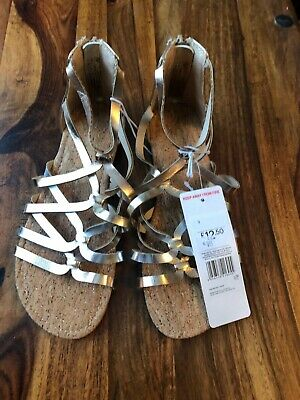 Girls Gold And Silver F&F Sandals Size 3 • 2.99£