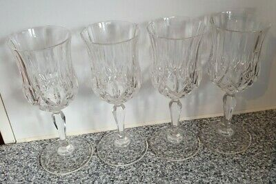 4 X Crystal Wine Glasses By Royal Crystal Rock  • 9.99£