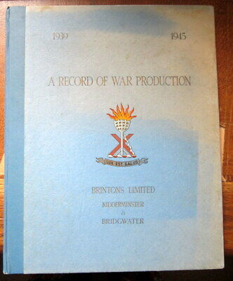 £28 • Buy A Record Of War Production. Brintons Ltd. From Carpets To Military Equiptment.