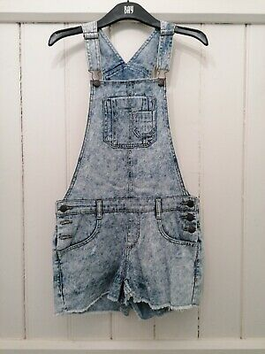 Short Denim Dungarees Age 15 Years, But Would Fit Size 8-10 • 2.50£
