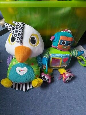 Free Post Lamaze Talking Parrot, Robot And Pot Of Flowers-workin Good Condition  • 5£