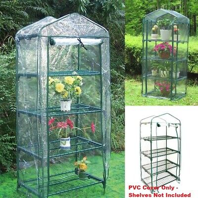 4-Tier Mini Greenhouse Growhouse Garden PVC Cover Plastic Protect Plants Flowers • 9.59£