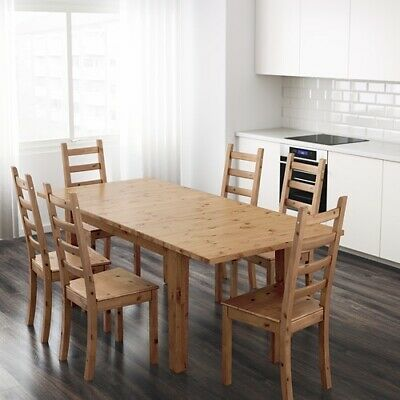 Ikea STORNAS Extending Antique Pine Dining Table Brand New • 90£