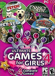 Ultimate Games For Girls 4 (PC, 2008) Cd-rom's Only • 3.58£