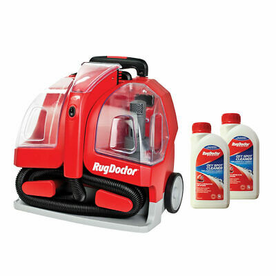 Rug Doctor Portable Spot Carpet Cleaner With 2x500ml Spot Cleaning Solution NEW • 159.95£